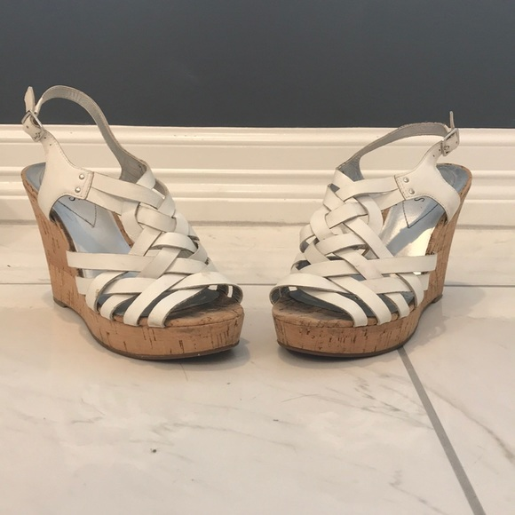 Guess Shoes   Guess White Wedges   Poshmark
